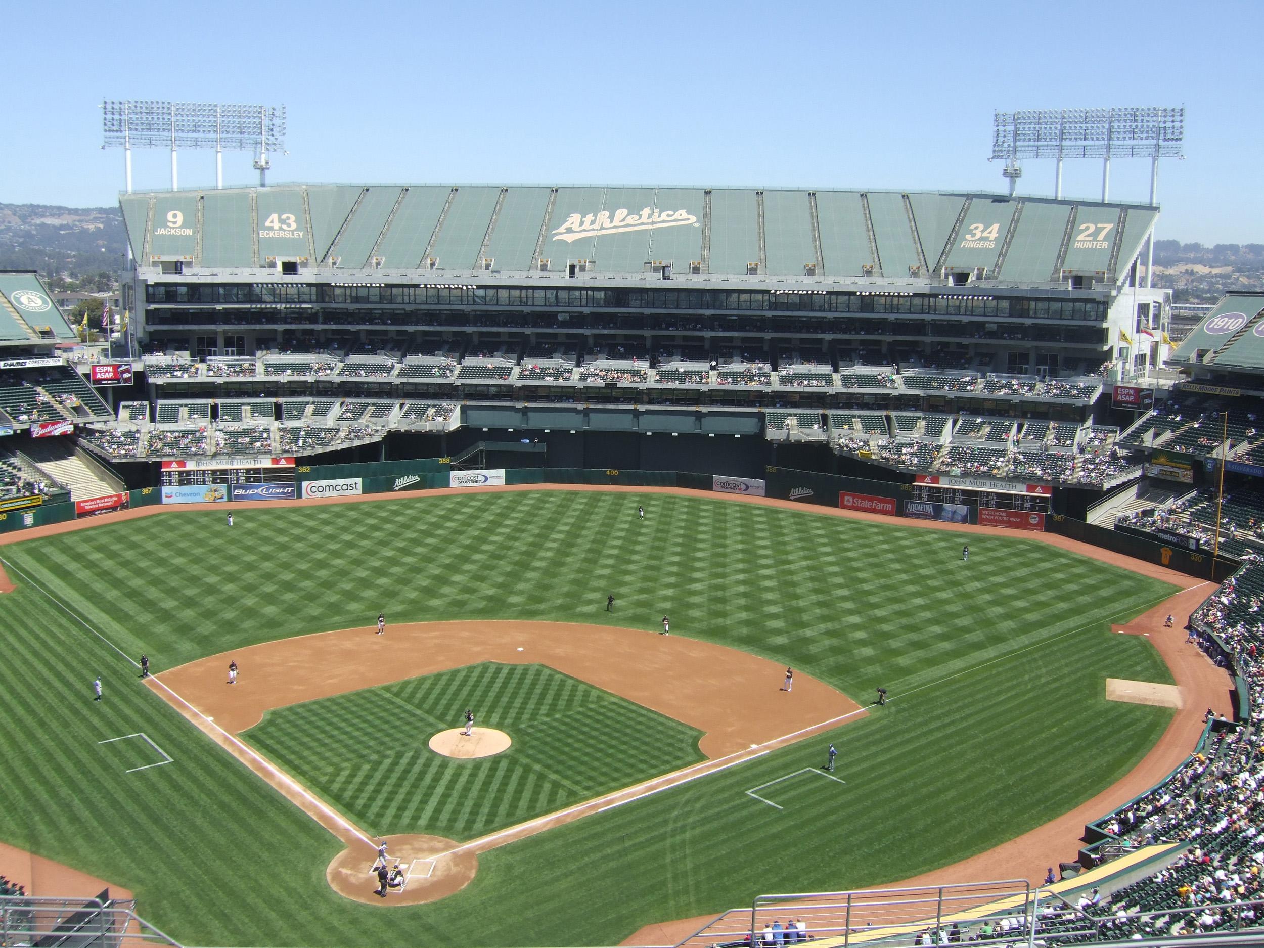 Oakland Coliseum Oakland A s ballpark Ballparks of Baseball