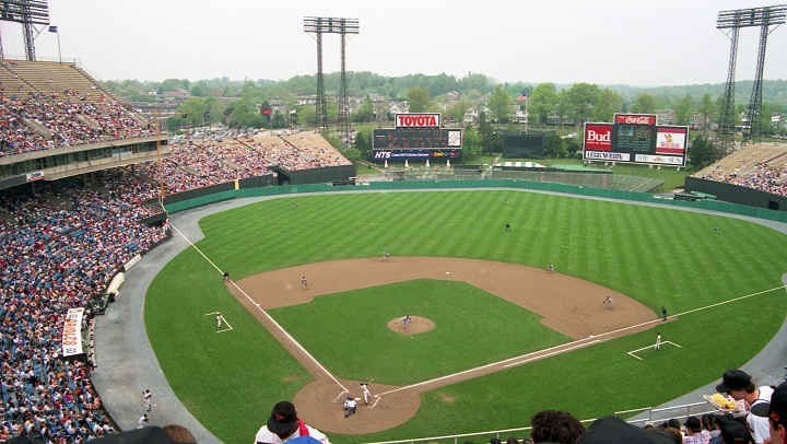 View of Memorial Stadium, former home of the Baltimore Orioles