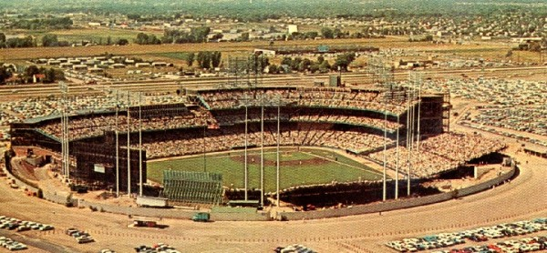 Aerial of Metropolitan Stadium, former home of the Minnesota Twins