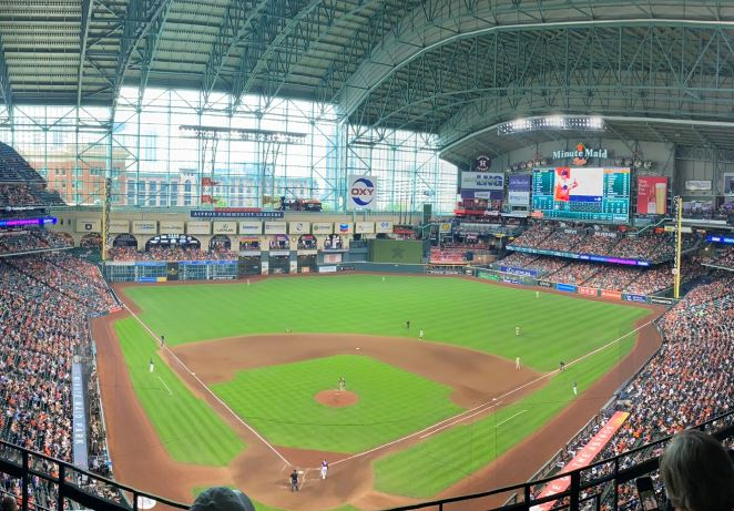 View from the upper deck at Minute Maid Park, home of the Houston Astros