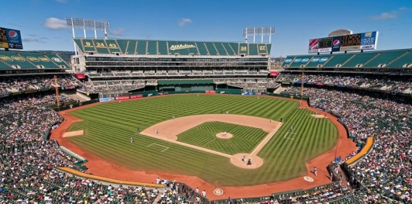 View from the upper deck at O.co Coliseum. Picture: Mark Whitt