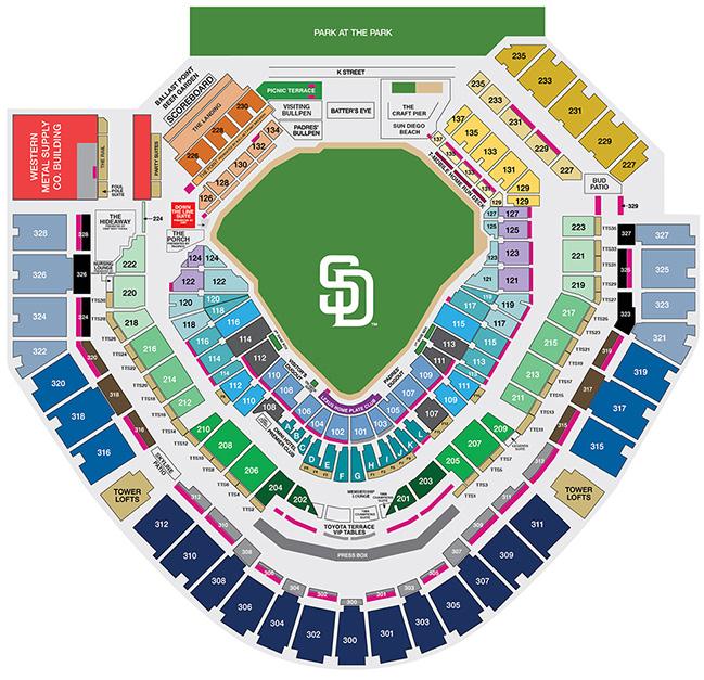 MLB Ballpark Seating Charts, Ballparks of Baseball