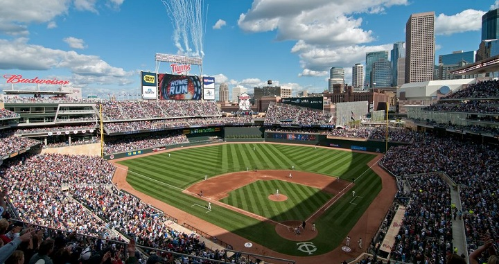 View of Target Field from the upper deck. Picture: Mark Whitt
