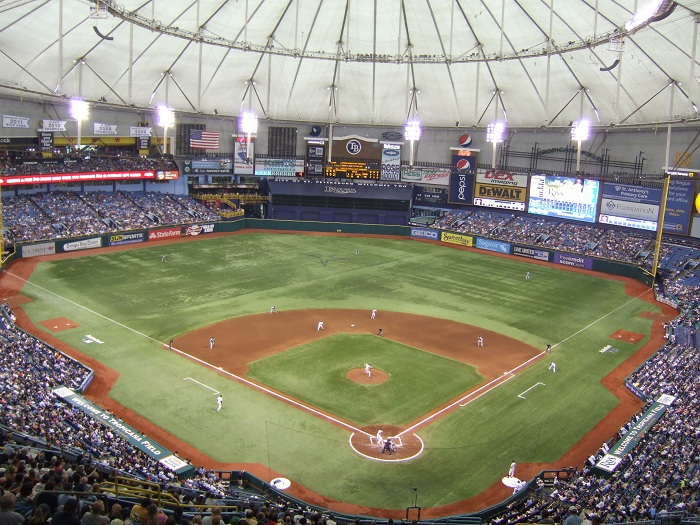 View from the upper deck at  Tropicana Field