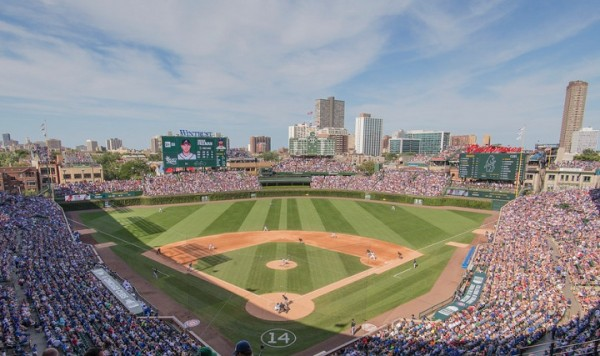 View from the upper deck at Wrigley Field