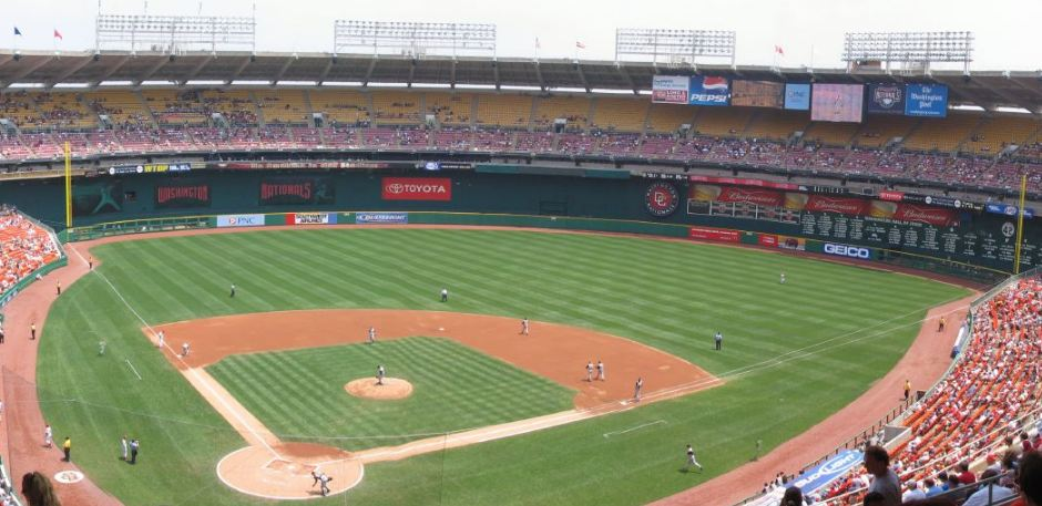 View from the upper deck at RFK Stadium, former home of the Washington Nationals and Washington Senators