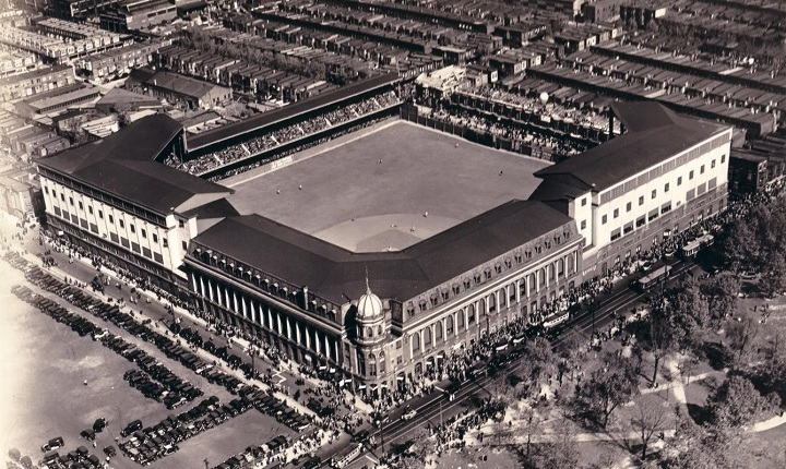 Aerial of Shibe Park, former home of the Philadelphia Phillies & Athletics