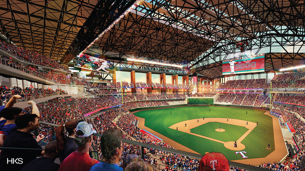 Globe Life Field, future home of the Texas Rangers