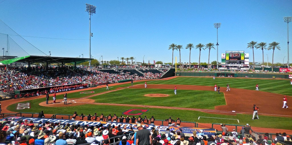 Goodyear Ballpark, spring training home of the Cleveland Indians and Cincinnati Reds