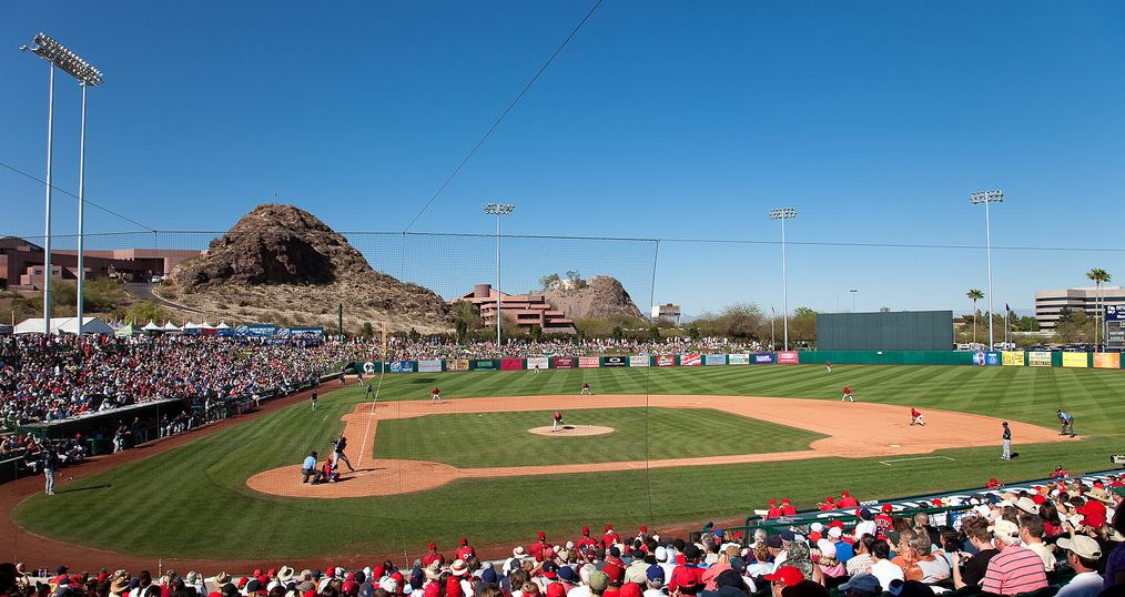 Tempe Diablo Stadium, Spring Training home of the Los Angeles Angles