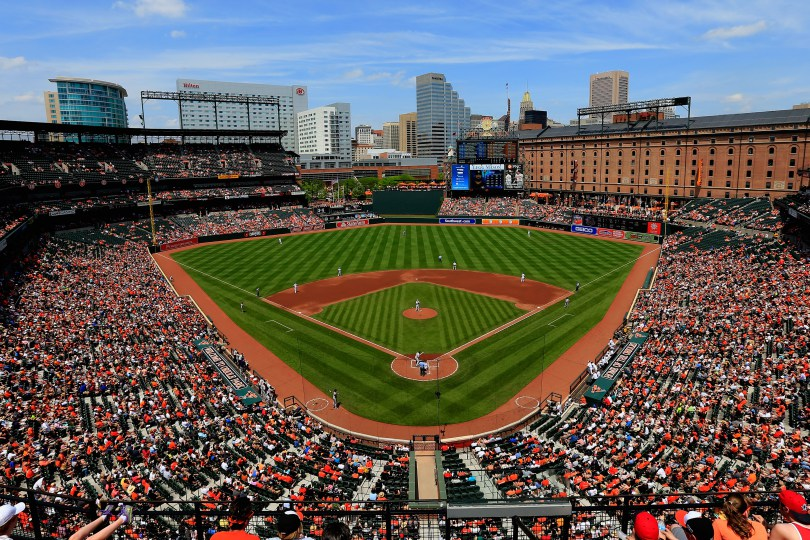 BALTIMORE, MD - MAY 25:  A general view during the third inning of the Baltimore Orioles and Houston Astros game at Oriole Park at Camden Yards on May 25, 2015 in Baltimore, Maryland.  (Photo by Rob Carr/Getty Images)