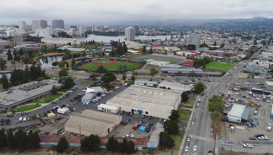 The Oakland A's are proposing a new stadium  at the Peralta Community College District headquarters near Laney College in Oakland, California, on Wednesday, September 13, 2017.  (LiPo Ching/Bay Area News Group)